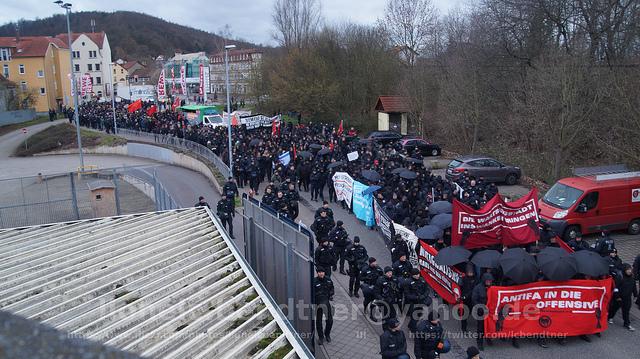 Antifa-Demo Eisenach Wartburgstadt ins Wanken bringen